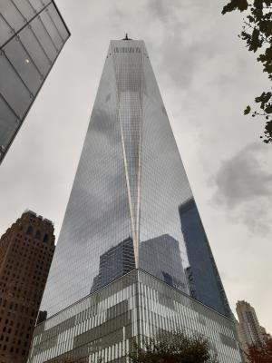 One World Trade Center, nu helemaal afgebouwd.