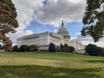 Nog een icoon van Washington D.C.: Het Capitool. Ook hier een stuk rustiger dan verwacht en zeker niet zoals in de films.