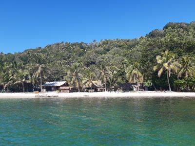Punta Sal National Park. Lekker stukje lopen, ontspannen en verse vis eten.