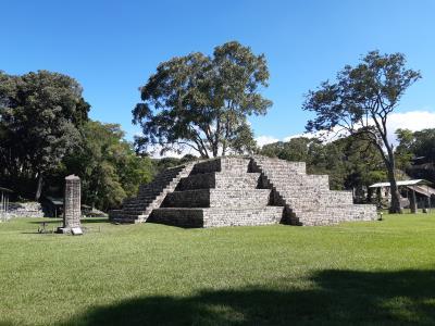 Copán. Oude mayastad (300-900 AD) in het westen van Honduras.