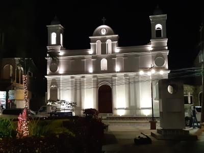 Copán by night.