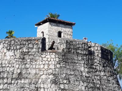 Castilla de San Felipe de Lara, vlakbij het hotel in Rio Dulce