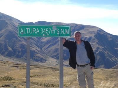 Altiplano, de hoogte in.