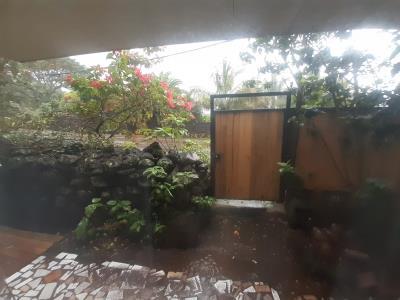 Ook in de bungalow veel water uit de hemel