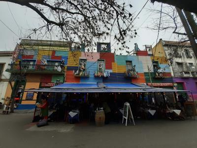 La Boca, kleurrijke wijk, lekkere sfeer.