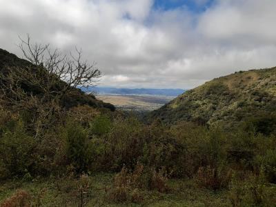 Argh... wolkjes bij een korte trail (4 uurtjes) door de bergen bij Salta.