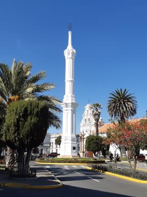 Sucre, 'de witte stad' en nog wat bijnamen, zoals 'capital of Bolivia' waar ze erg trots op zijn.