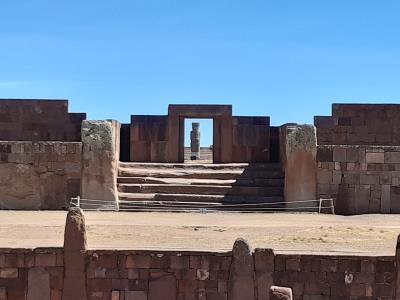 Tiwinaku, archelogische site vlak bij (al was het meer dan 2 uur rijden) van La Paz.