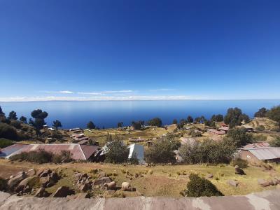 Uitzicht vanaf het eiland Taquile.