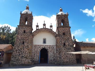 Kerkje bij de Inca ruïnes 'Raqchi'