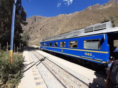 Onderweg naar Aguas Calientes, ook bekend als Machu Picchu Pueblo.