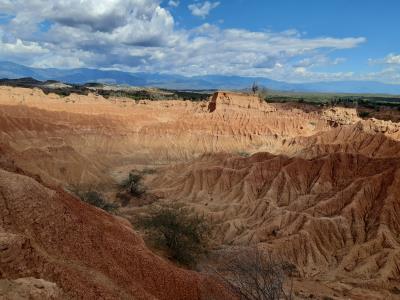 De Tatacoa woestijn in... Lekker weer, gelukkig slechts 30 graden.